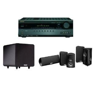 Onkyo TX SR507 5.1 Channel Home Theater Bundle with Polk Audio Speakers Electronics