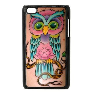 db26337b10d ... Cartoon Owl Tattoo IPod Touch 4 Case Back Case for IPod Touch 4  Cell  Phones ...
