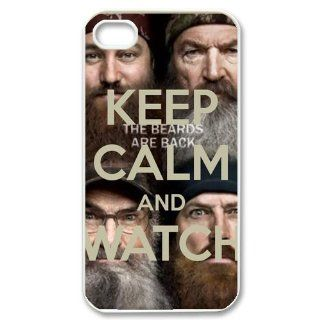 Custom Reality Show Duck Dynasty Keep Calm Series iPhone 4 4S Best Phone Case Cover black&white: Cell Phones & Accessories