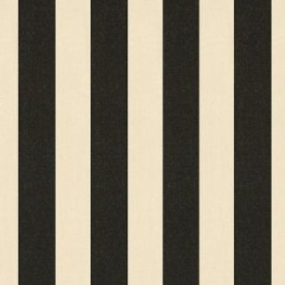 Canopy Stripe Black/Sand Sunbrella Fabric by the Yard   Ballard Designs