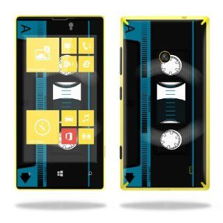 MightySkins Protective Vinyl Skin Decal Cover for Nokia Lumia 520 Cell Phone T Mobile Sticker Skins Cassette Tape: Computers & Accessories