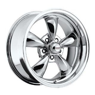 """17 inch 17x8"""" / 17x9"""" 100 C Classic Series Chrome aluminum wheels rims licensed from American Racing 5x4.75"""" Chevy lug pattern 0 offset 4.50"""" and 5.00"""" backspacing (set of four wheels) Automotive"""