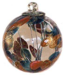 """Shop Witch Ball """"Silver Nitrate Sea Green / Burnt Orange"""" by Iron Art Glass Designs at the  Home D�cor Store"""