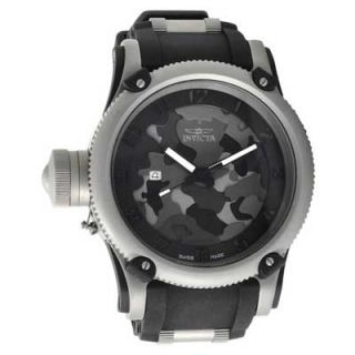 Mens Invicta Lefty Russian Diver Watch with Black Tonal Camouflage
