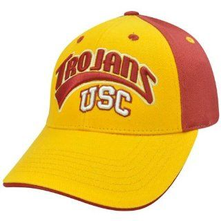 NCAA USC Hat Cap Velcro Curved Bill Adjustable Arch Southern California Trojans : Sports Fan Baseball Caps : Sports & Outdoors