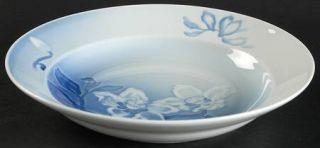 Bing & Grondahl Christmas Rose Rim Soup Bowl, Fine China Dinnerware   White Flow