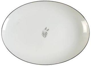 Fukagawa Moonlight 12 Oval Serving Platter, Fine China Dinnerware   Platinum An