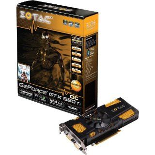 ZOTAC nVidia GeForce GTX560 Ti OC 1GB DDR5 2DVI/Mini HDMI PCI Express Video Card ZT 50303 10M: Electronics