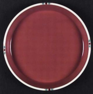 Dansk Mesa Terracotta Dinner Plate, Fine China Dinnerware   Mesa, Rust Body, Whi