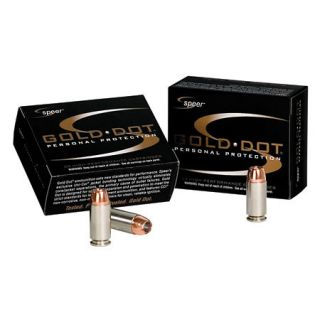 Speer Gold Dot Ammo 9mm Luger +P 124 Gr. GDHP 420335
