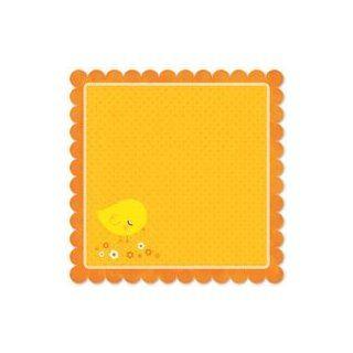 Sunny Bunny Die cut Paper 12x12 scallop Edge Chick adee/Glitter 25Pk