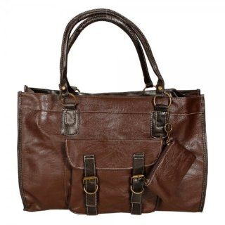 Women Retro Style Pu Leather Handbag Shoulder Messenger Bag Brown Luxury Fashion Bag  Diaper Tote Bags  Baby