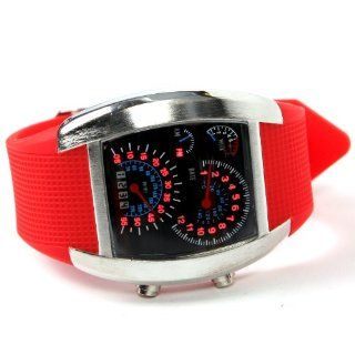 Shot in Creative LED Watch Sector Sports Car Meter Dial Men Wrist Watch (Red) at  Men's Watch store.