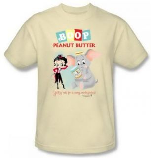 Betty Boop Peanut Butter Elephant Adult Shirt BB605 AT: Clothing