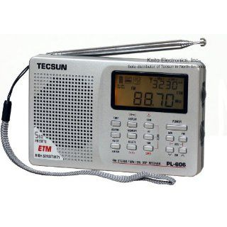 Tecsun PL 606 Digital PLL Portable AM/FM Shortwave Radio with DSP, Silver Electronics