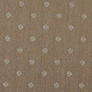 """54"""" Wide C655 Light Brown And Beige, Leaves Country Style Upholstery Fabric By The Yard"""