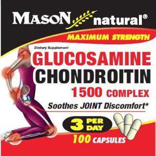 Mason Natural Double Strength Glucosamine Chondroitin, 100 Capsules Health & Personal Care