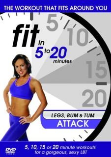 Fit in 5 to 20 Minutes Legs Bum And Tum Attack      DVD
