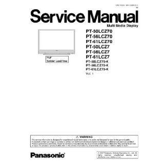 Panasonic PT 61LCZ7, PT 56LCZ70 and more Service Manual Panasonic Books