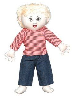 Children s Factory CF100 633 Down Syndrome White Boy Doll  Blonde Toys & Games