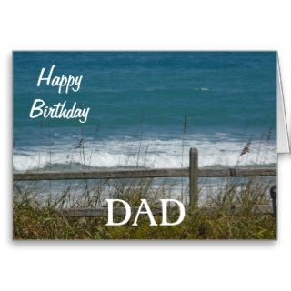 Happy Birthday DAD Ocean Waves Card
