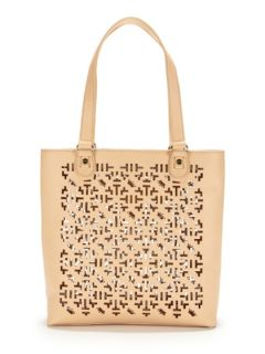 Alison Laser Cut Tote by Elaine Turner
