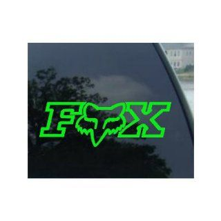 "FOX RACING LOGO W/FACE   6"" LIME GREEN Decal   NOTEBOOK, LAPTOP, IPAD, WINDOW, WALL, CAR, TRUCK, MOTORCYCLE: Automotive"