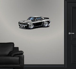 "24"" 1969 Chevrolet Chevy Camaro SS classic muscle sports car cartoon Wall Graphic Sticker Decal Home Kids Room Man Cave Garage window art Decor NEW !!"