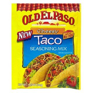 Old El Paso Seasoning, Cheesy Taco, 1.25 Ounce Packets (Pack of 24) : Mexican Seasoning : Grocery & Gourmet Food