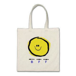 BFF (Best Friends Forever) Tote with Smiley Tote Bag