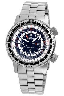 Fortis Men's 669.10.31M B 47 Calculator Automatic 3 Time Zone Black Dial Watch at  Men's Watch store.