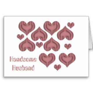 Valentine's day Husband, pink hearts on white Card