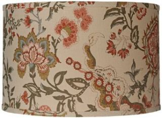 Jamie Young Coral Floral Linen Drum Shade 15x15x10 (Spider)   Lampshades