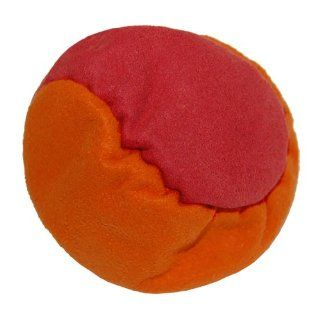 Hacky Sack (Two Panel Footbag) Sand Filled   Orange/Red: Sports & Outdoors