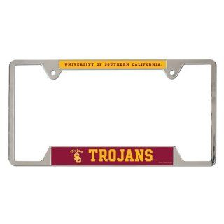 USC Trojans NCAA Metal License Plate Frame : Automotive License Plate Frames : Sports & Outdoors