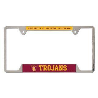 USC Trojans NCAA Metal License Plate Frame : Automotive License Plate Frames : Sports & Outdoors