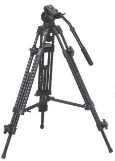 CowboyStudio EI 717 Pro Video/Photo Tripod and Fluid Pan Head Kit   Tripod, Pan Head, Handle and Case  Cowboy Carbon Fiber Video Tripods  Camera & Photo