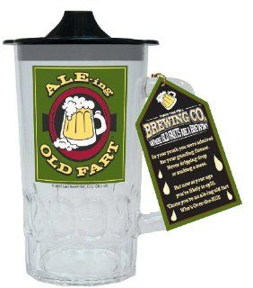 Laid Back Ale ing Old Fart Sippie Beer Stein: Kitchen & Dining
