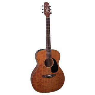 Takamine Pro Series EF740SGN OM Cedar Acoustic Electric Guitar, Satin Brown with Case Musical Instruments