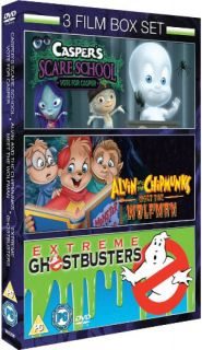 Caspers Scare School / Alvin and the Chipmunks meet the Wolfman / Extreme Ghostbusters      DVD