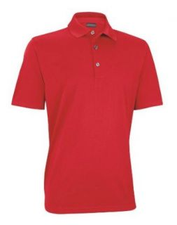 Ashworth Performance EZ SOF Solid Golf Shirt Tango Red S: Clothing