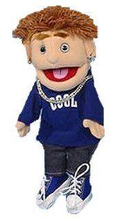 "Sunny Puppets 14"" Boy   Brunette Boy Blue Top Puppet Toys & Games"