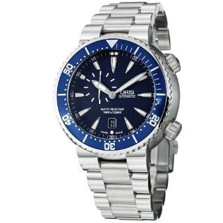 Oris Divers Small Second Automatic Blue Dial Mens Watch 743 7609 8555MB Oris Watches