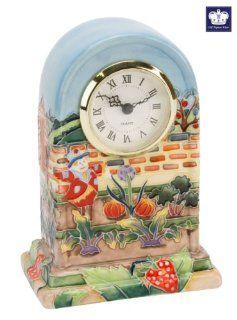 Old Tupton Ware Allotment Ceramic Mantel Clock Hand Painted   Desk Clocks