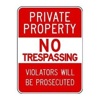 Safety Sign, Private Property No Trespass