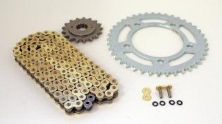 1998 2003 Honda VT750 Shadow CZ Gold X Ring Chain and Sprocket 17/41 Automotive