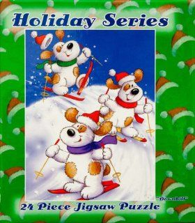 Holiday Series 24 Piece Jigsaw Puzzle Downhill Toys & Games