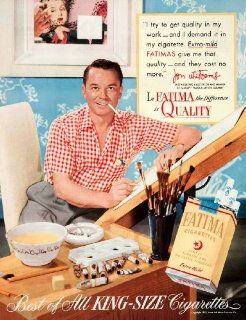 1952 Ad Fatima Cigarettes Jon Whitcomb Illustrator Faculty Famous Artists Course   Original Print Ad