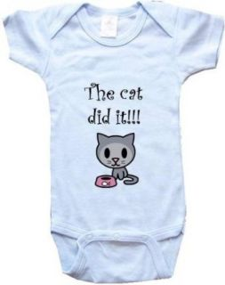 THE CAT DID IT   BigBoyMusic Baby Designs   White, Blue or Pink Onesie / Baby T shirt Clothing