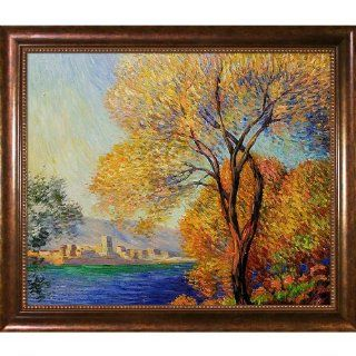 Hand Painted Reproduction of Claude Monet Antibes, View of Salis Framed Oil Painting, 20 x 24   Canvas Wall Art Monet
